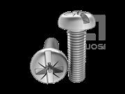 ASME/ANSI B18.6.3-20-2013 米一字槽盘头螺钉 表20
