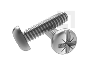 ASME/ANSI B18.6.3-20-2013 B牙米一字槽盘头自攻螺钉 表20