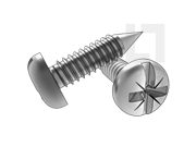 ASME/ANSI B18.6.3-20-2013 BP牙米一字槽盘头自攻螺钉 表20