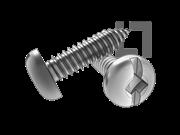 ASME/ANSI B18.6.3-20-2013 AB牙四方一字槽盘头自攻螺钉 表20