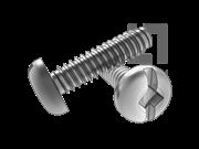 ASME/ANSI B18.6.3-20-2013 B牙四方一字槽盘头自攻螺钉 表20