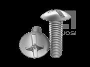 ASME/ANSI B18.6.3-26-2013 十一字槽扁圆头螺钉 表26