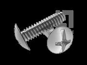 ASME/ANSI B18.6.3-26-2013 B牙十一字槽扁圆头自攻螺钉 表26
