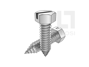 ASME/ANSI B18.6.3-29-2013 AB牙开槽六角头自攻螺钉 表29