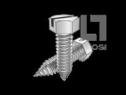 ASME/ANSI B18.6.3-29-2013 AB牙开槽大六角头自攻螺钉 表29
