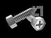 ASME/ANSI B18.6.3-30-2013 AB牙十字槽(H型)凹脑六角头自攻螺钉 表30