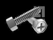 ASME/ANSI B18.6.3-30-2013 B牙十字槽(H型)凹脑六角头自攻螺钉 表30