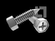 ASME/ANSI B18.6.3-30-2013 BP牙十字槽(H型)凹脑六角头自攻螺钉 表30
