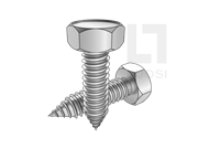 DIN 7976-1990 凹脑六角自攻钉C型