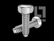 DIN 7976-1990 凹脑六角自攻钉F型