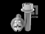 ASME/ANSI B18.6.3-34-2013 十一字槽凹脑六角凸缘螺钉 表34