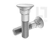 DIN 608-2010 沉头方颈螺栓