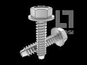 DIN 6928-1990 六角头带介自攻螺钉F型