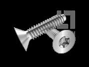 ISO 14586-2001 90°梅花槽沉头自攻螺钉F型