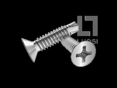 DIN 7504P 十字槽沉头自攻自钻螺钉--SUS410/210/304/316