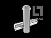 ISO 8740-1997 沟槽销全长平行倒角槽